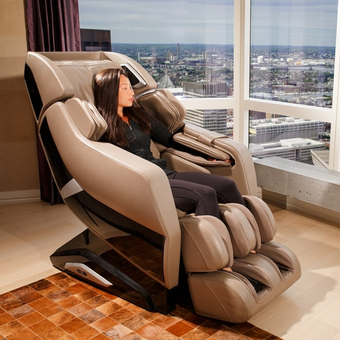 Infinity Riage X3 Massage Chair with Woman Sitting