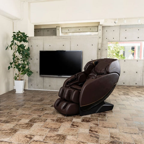 Inner Balance Jin 2.0 Massage Chair with Flat Screen TV Background