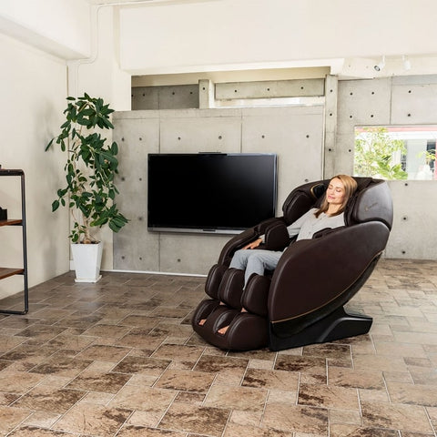 Inner Balance Jin 2.0 Massage Chair with Woman Sitting
