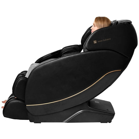 Inner Balance Jin 2.0 Massage Chair Side View with Woman Sitting
