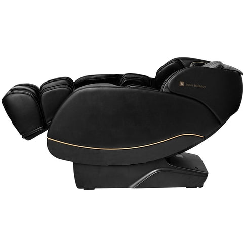 Inner Balance Jin 2.0 Massage Chair in Black with Foot Extension Up