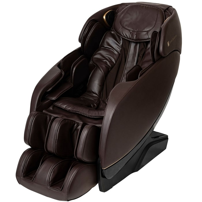 Inner Balance Jin 2.0 Massage Chair in Brown with White Background