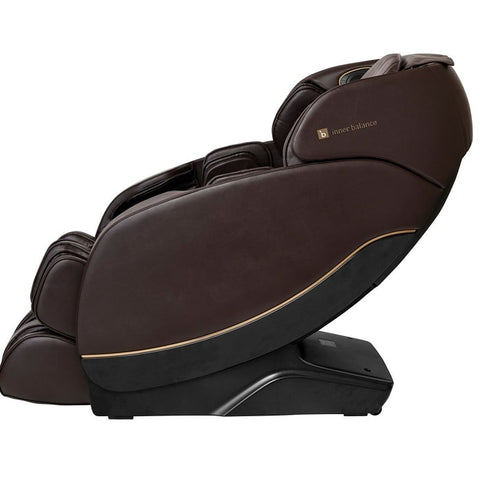Inner Balance Jin 2.0 Massage Chair in Brown Side View