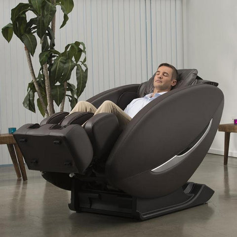 Inner Balance Wellness Ji Massage Chair IMR0047 in zero gravity position with person in room