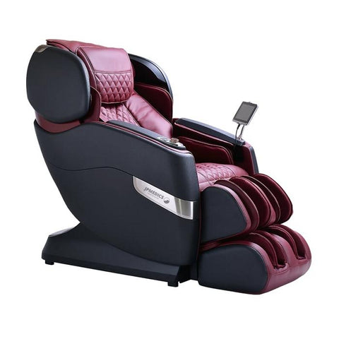 JPMedics Kumo 4D Massage Chair in midnight red semi side view