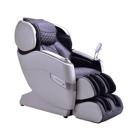 JPMedics Kumo 4D Massage Chair in pearl white espresso semi side view