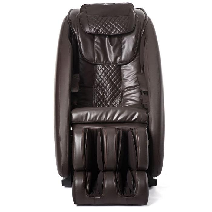 Inner Balance Wellness Ji Massage Chair IMR0047 in brown color semi side view