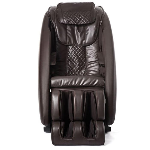 Ji massage chair in brown color front view.