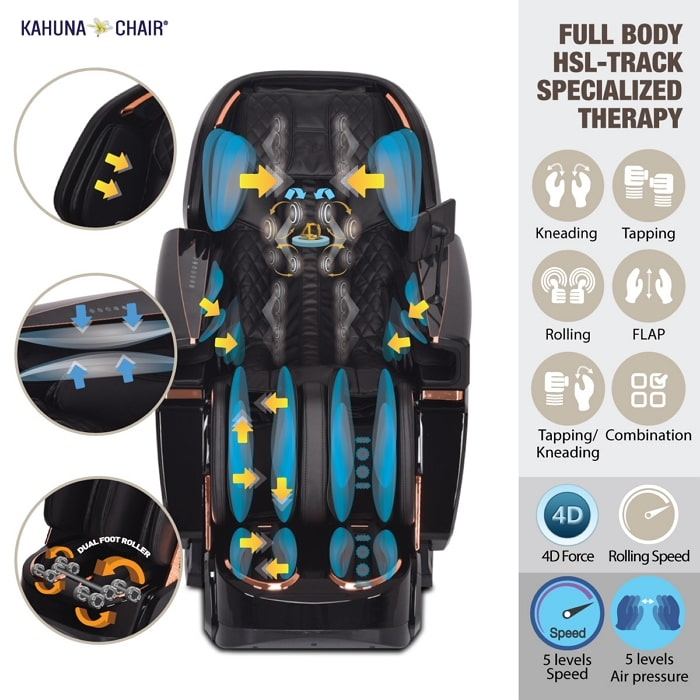 Kahuna EM-8500 Massage Chair Specialized Therapy