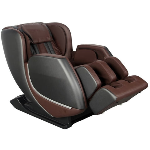 Kyota E330 Kofuko Massage Chair in Black and Brown Partially Reclined