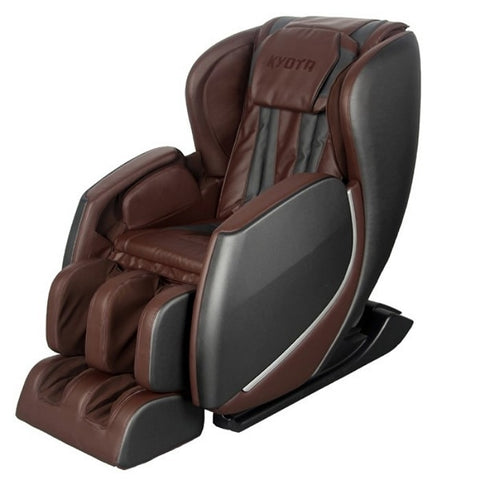 Kyota E330 Kofuko Massage Chair in Black/Brown with White Background