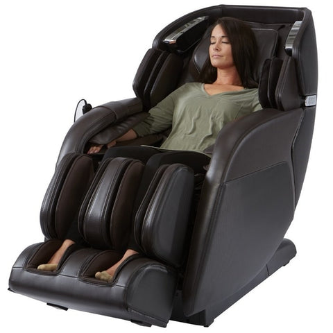 Kyota M673 Kenko Massage Chair in Brown with Woman Sitting