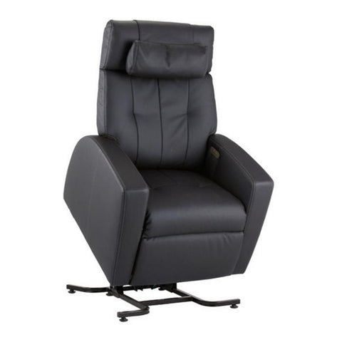 Positive Posture Luma Recliner with Lift Assist in black semi front view white background