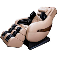 Luraco Legend Plus L-Track Massage Chair in cream semi side view