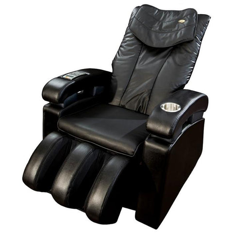 Luraco Sofy Massage Chair in black semi side view