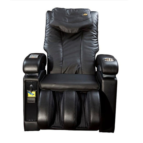 Luraco Sofy Commercial Massage Chair in black front view