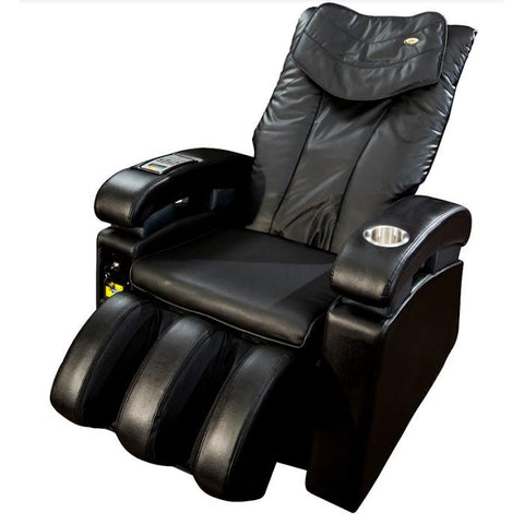 Luraco Sofy Commercial Massage Chair in black semi side view