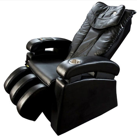Luraco Sofy Commercial Massage Chair  in black angled with white background