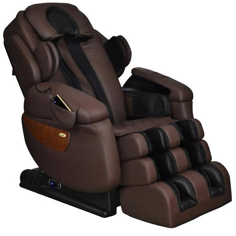 Luraco i7 Plus massage chair in brown color.