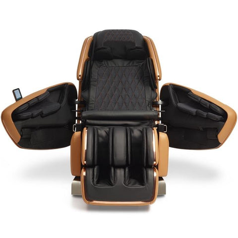 OHCO M.8LE 4D Massage Chair in saddle front view open doors
