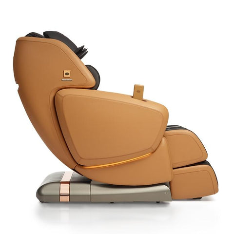 OHCO M.8LE 4D Massage Chair in saddle in side view position