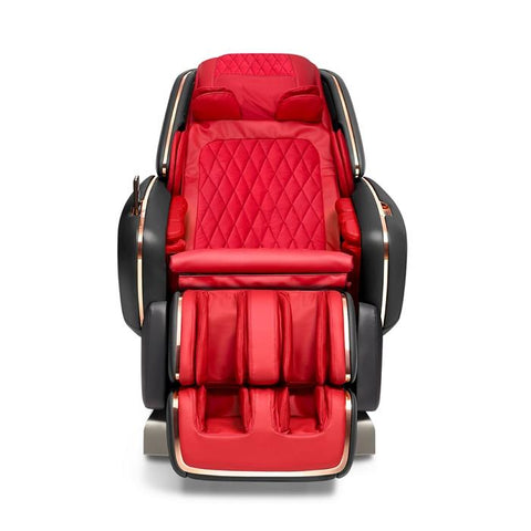 OHCO M.8LE 4D Massage Chair in rosso nero front view closed doors