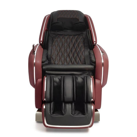 OHCO M.8 4D Massage Chair in bordeaux color front view