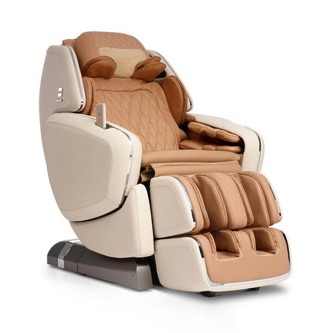 OHCO M.8 4D Massage Chair in pearl color semi side view