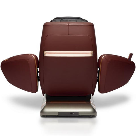 OHCO M.8LE 4D Massage Chair in bordeaux back view open doors