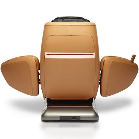 OHCO M.8LE 4D Massage Chair in saddle back view open doors