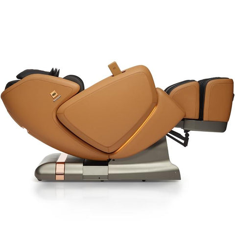OHCO M.8LE 4D Massage Chair in saddle lay flat position reclined position