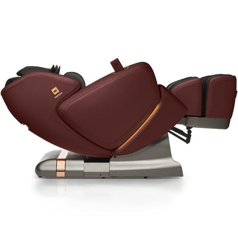 OHCO M.8LE 4D Massage Chair bordeaux reclined lay flat position