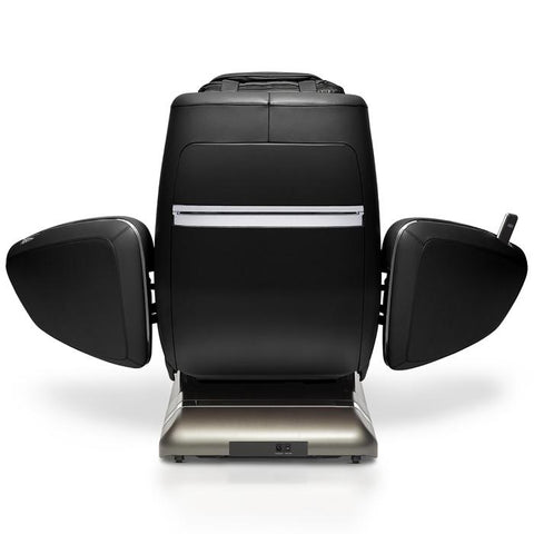 OHCO M.8 4D Massage Chair in black with back open doors