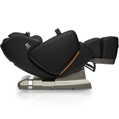 OHCO M.8 4D Massage Chair in black reclined position