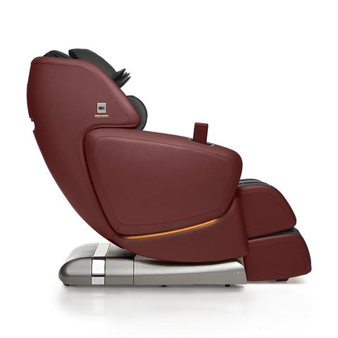 OHCO M.8 4D Massage Chair in bordeaux color side view