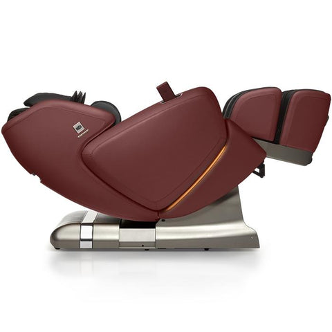 OHCO M.8 4D Massage Chair in bordeaux color with zero gravity position