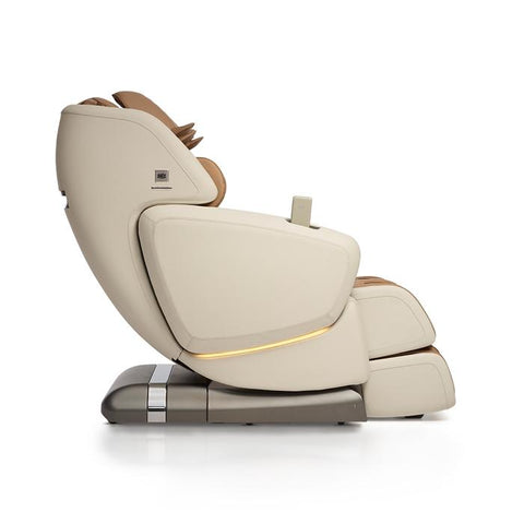 OHCO M.8 4D Massage Chair in pearl color side view