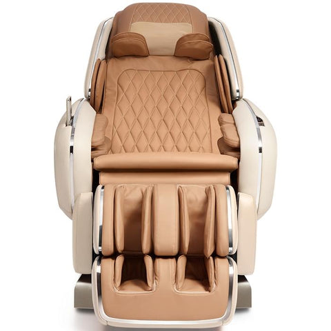 OHCO M.8 4D Massage Chair in pearl color front view closed doors