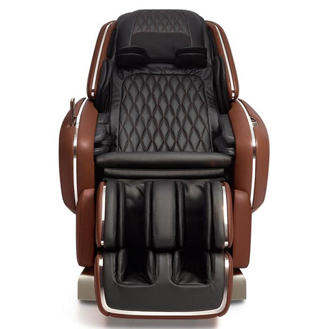 OHCO M.8 4D Massage Chair in walnut color front view