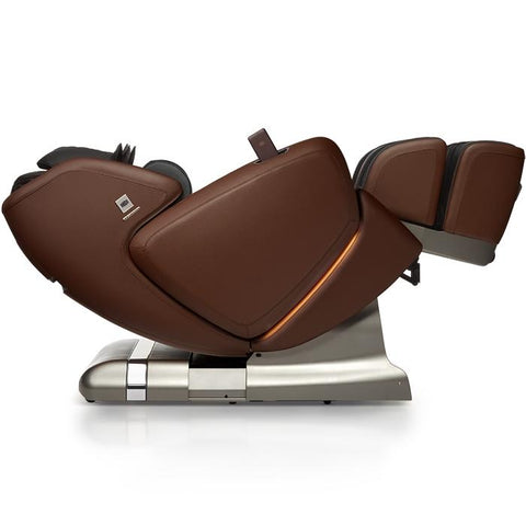 OHCO M.8 4D Massage Chair in walnut with zero gravity position
