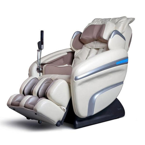 Osaki OS 7200H Massage Chair in cream color semi side view