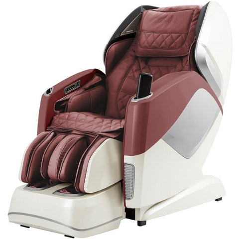 Osaki OS Pro Maestro 4D Massage Chair in burgundy semi side view