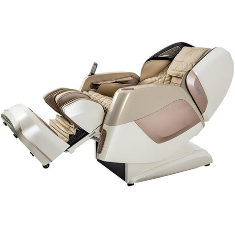 Osaki Maestro Massage Chair in Beige color in a reclined position.