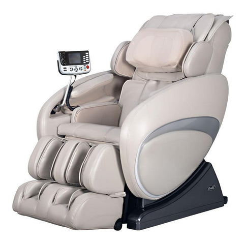 Osaki OS 4000T Massage Chair in Taupe color in side view.