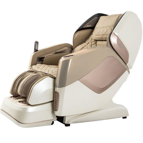 Osaki OS Pro Maestro 4D Massage Chair in Beige semi side view