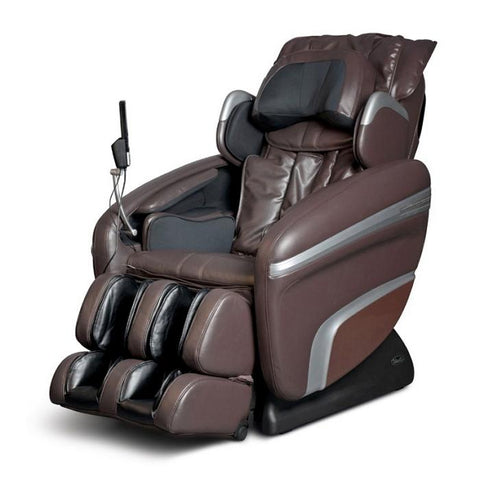 Osaki OS 7200H Massage Chair in brown color semi side view