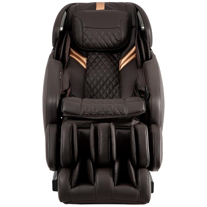 Osaki OS-Pro Admiral Massage Chair in brown color semi side view
