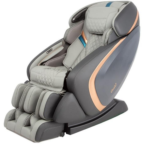 Osaki OS-Pro Admiral Massage Chair in grey color semi side view