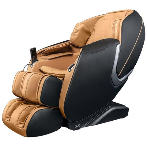 Osaki OS Aster Massage Chair in black cappuccino semi side view