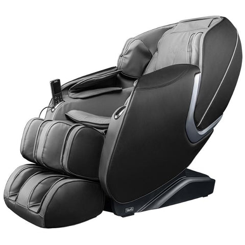 Osaki OS Aster Massage Chair in black grey color semi side view